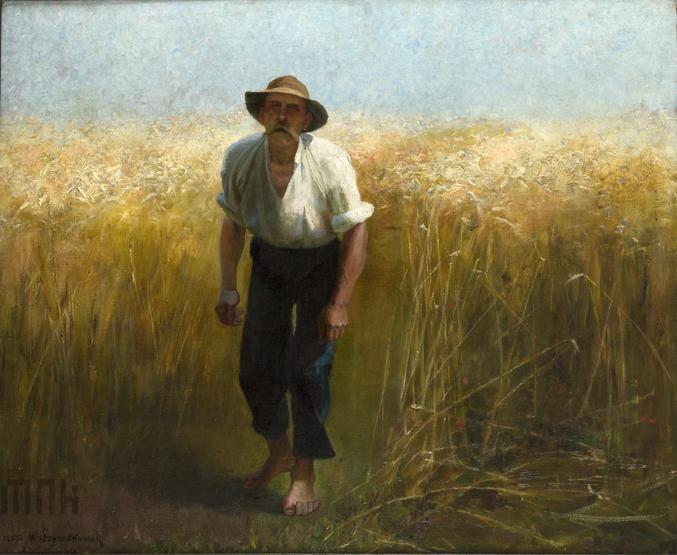 Żniwiarz, Wacław Szymanowski (1859-1930) // Harvester  Muzeum Narodowe w Krakowie // National Museum in Krakow #summer #art  #mnk #museum #muzeum