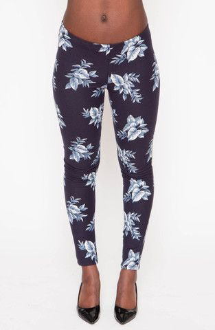 Navy Bloom Leggings