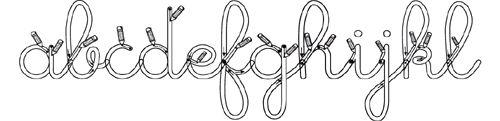 Polices d'écriture pour l'école à télécharger. Ecriture cursive, écriture capitale, écriture creuse, écriture phonétique...