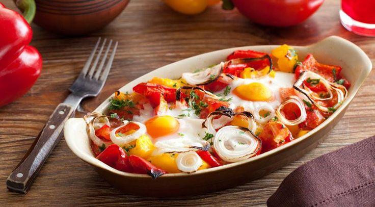 Брынза, запеченная с яйцами по-болгарски