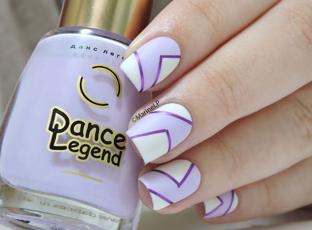 Nailstorming - En Amoureux/ses  - Dance Legend 1046 - graphic nails - striping tape