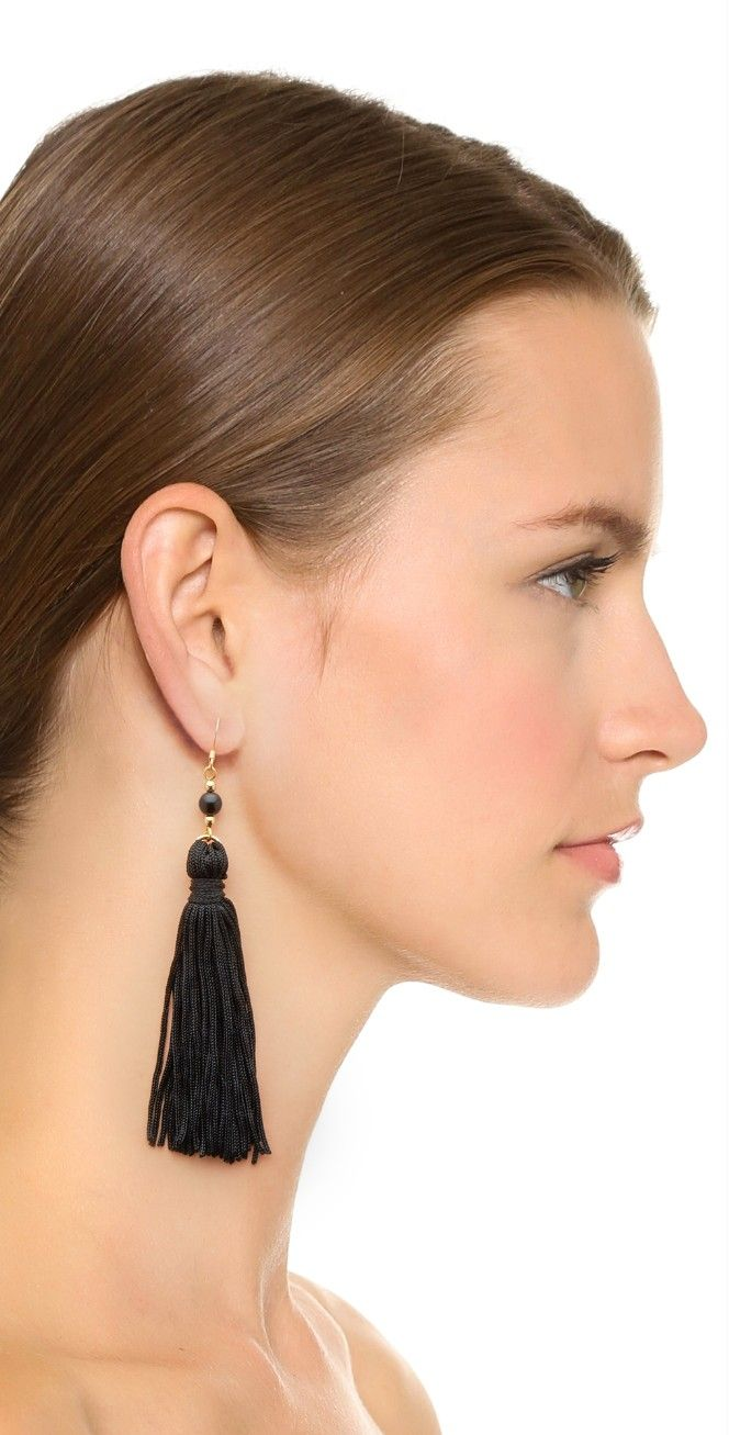 Kenneth Jay Lane Bead & Tassel Earrings | SHOPBOP