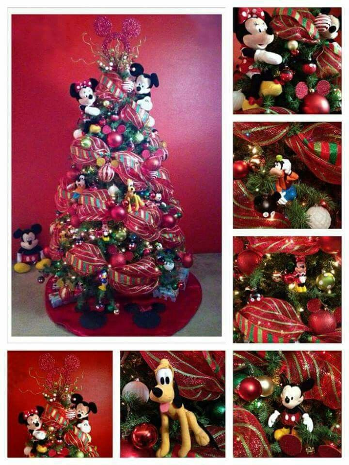 17 best images about mickey mouse christmas deco on for Decoration noel mickey