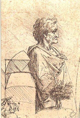 Leonardo da Vinci - Drawing of an old man