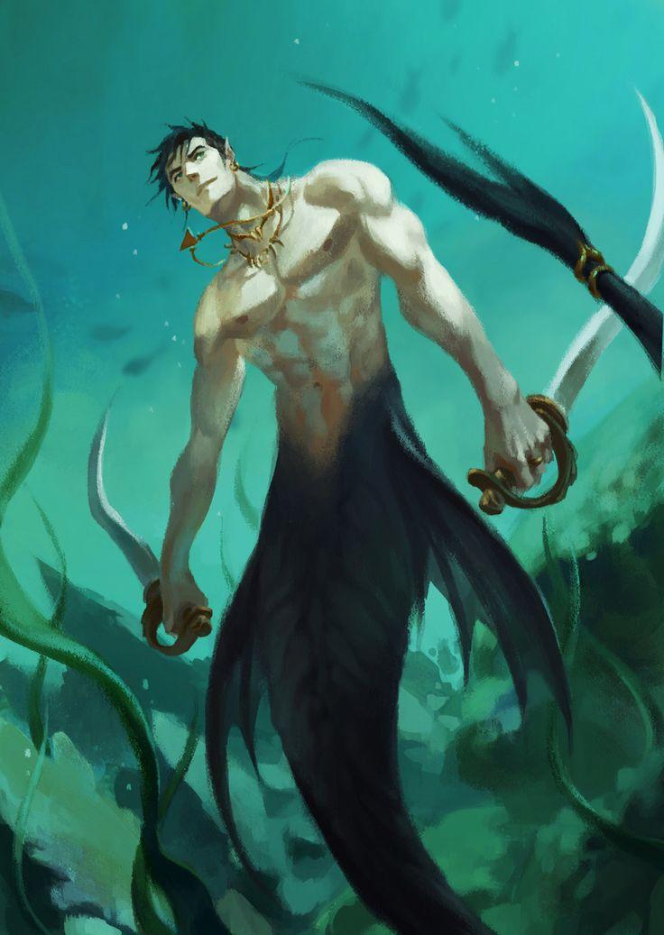 Tritón Tritones, Hijo de Poseidón y Rey de los Tritones