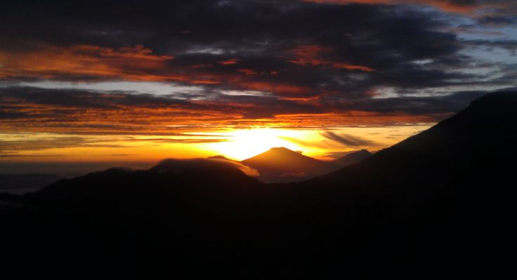 Sunrise From Puncak Sikunir, Dieng Plateu, Central Java, Indonesia