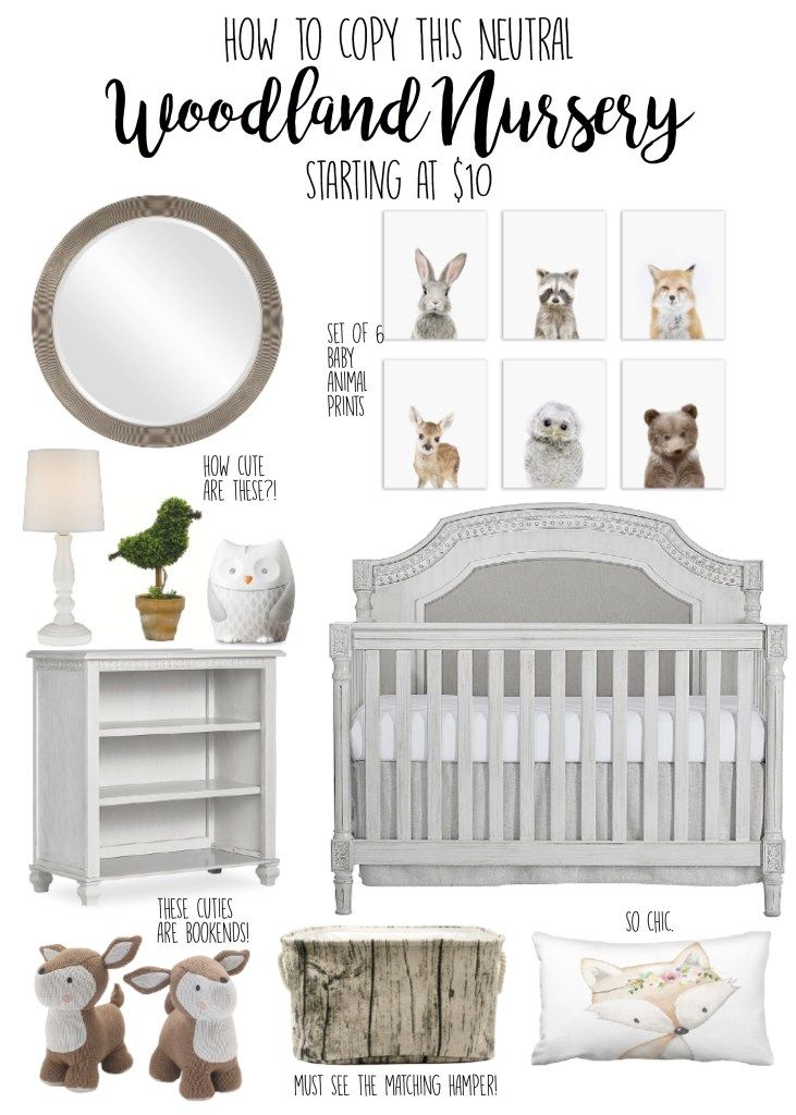 Woodland Nursery Boy Y Theme Green Neutral Forest