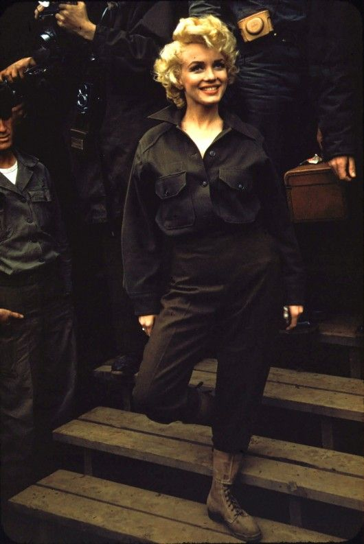 Marilyn Monroe in Korea, 1954 - from the Marines Corps archives