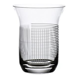 Bomma - Line Collection Crystal 10 oz Water Glass - Set of 2 - Set of 2 - Lines Collection Crystal 10 ounce Water Glass celebrates uniqueness and simplicity in surprisingly minimalist style. It has strong visual performance when rotating all round and extraordinary feeling due to intersection of horizontal and vertical lines. The LINES pattern is designed by Olgoj Chorchoj Studio. It is manufactured manually and refined to perfection on state-of-the-art cutting robots.