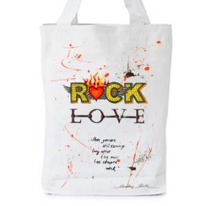 """""""when you 're still dancing  long after the music has stopped""""  That love rocks!!!!   Print with original artwork by Caroline Rovithi (www.caroline.gr)  WHITE ORGANIC FASHION TOTE BAG  - Climate Neutral®  100% Organic Cotton Twill Weave 170 g / 5.1 oz.  ONE SIZE : Width 36 x Height 42 x Depth 8 cm  #storymood #totebags #beachbag"""