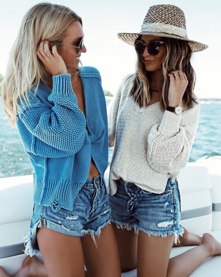 Summer sweaters and shorts