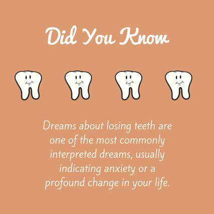 Teeth can tell you what your subconscious is thinking in your dreams!
