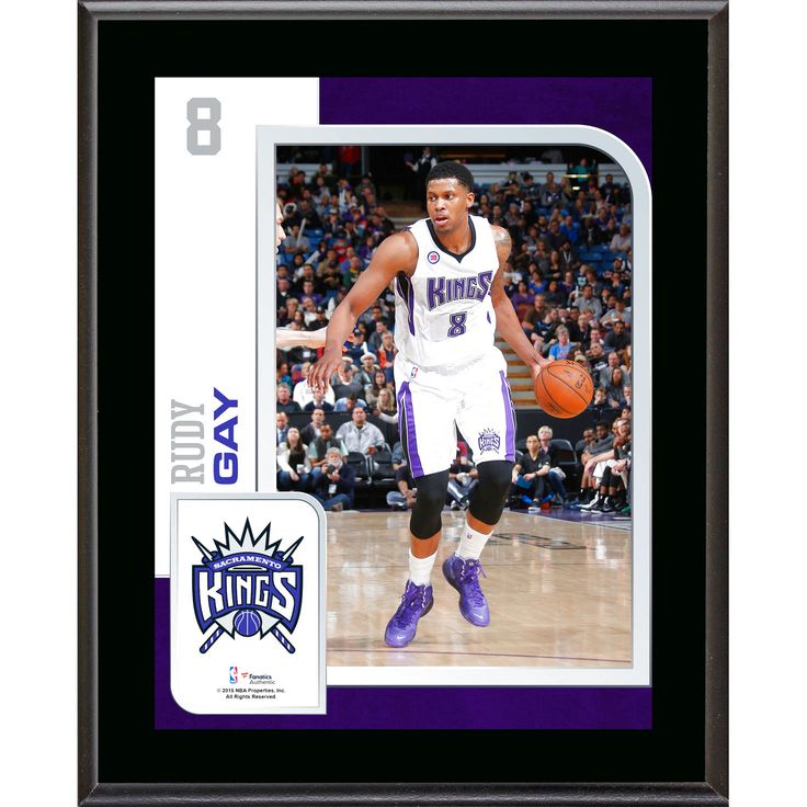 "Rudy Gay Sacramento Kings Fanatics Authentic 10.5"" x 13"" Sublimated Player Plaque - $23.99"