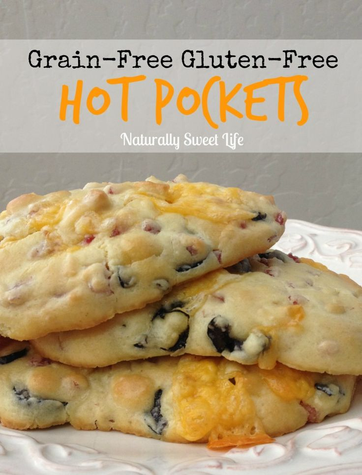 grain free gluten free hot pockets. These are yummy and perfect for people with allergies! Great for school lunches! hot pockets