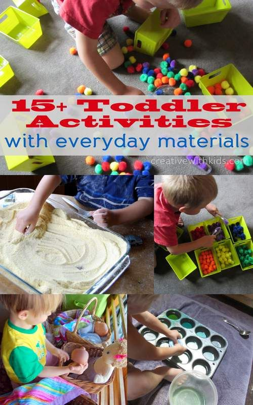 Foam trays and pom pom bin -' 15+ Simple Toddler Activities – using everyday materials