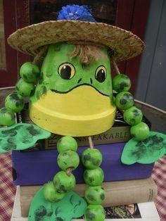 Frog Terra Cotta Frog Pot