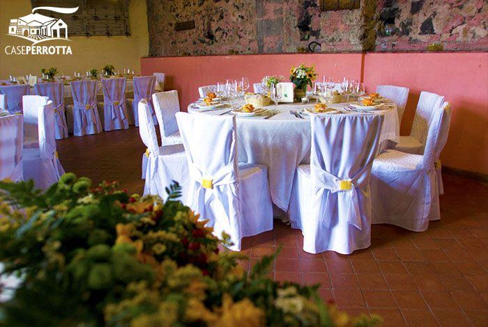 Allestimento sala Cantina per matrimonio