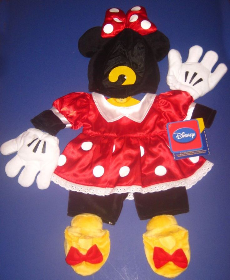 New Build-A-Bear Disney MINNIE MOUSE RED POLKA DOT DRESS OUTFIT COSTUME #BuildABearWorkshop