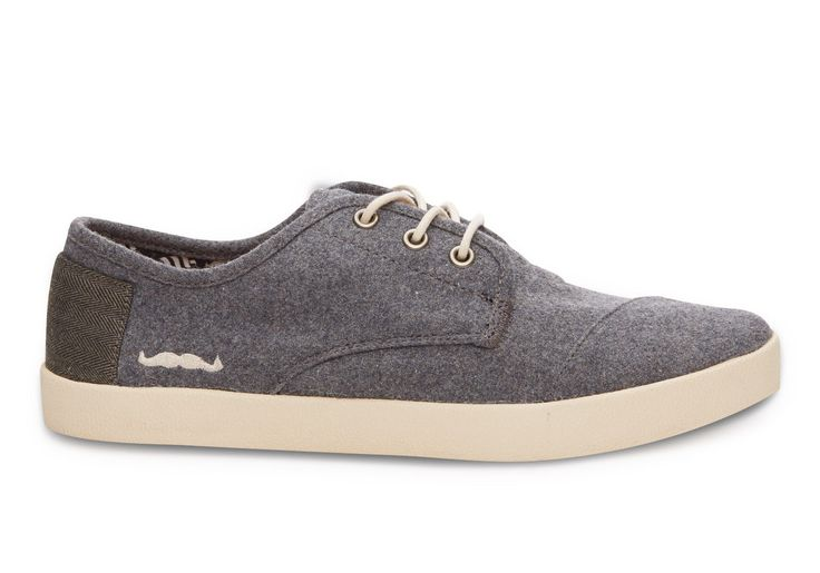 Grey  TOMS for Movember Wool Men's Paseos