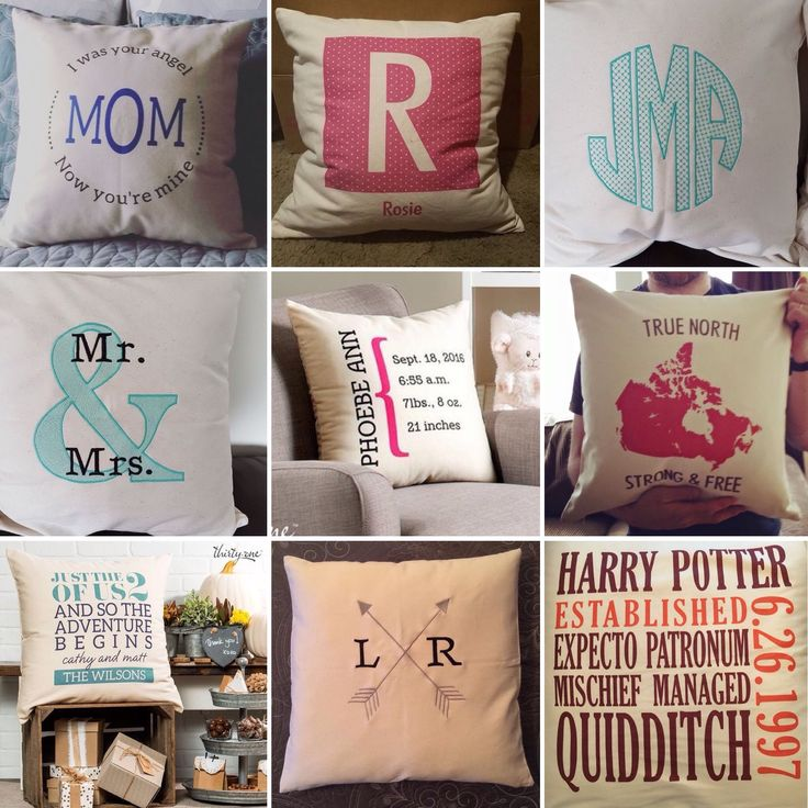 Thirty One Pillow Personalization Ideas
