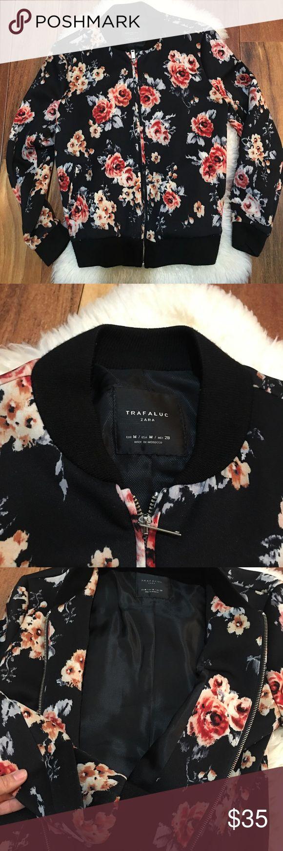 Zara floral bomber jacket size M Zara floral bomber jacket size M , good condition! Zara Jackets & Coats