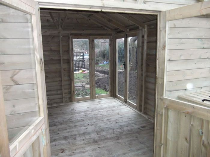 Potting Shed area with full length glass