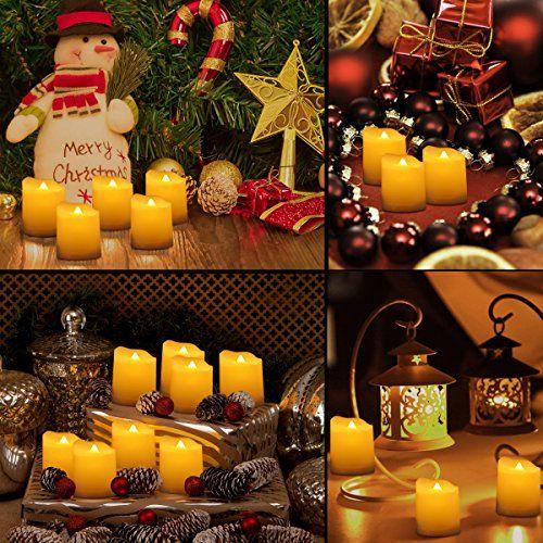 Weihnachtsdeko Led Kerzen.Criacr 9er Led Kerzen Mit Fernbedienung Flammenlose Kerzen Mit