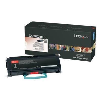 LEXMARK Cartouche toner X463X21G – Compatible X463/X464/X466 – Rendement très élevé 15.000 pages – Noir