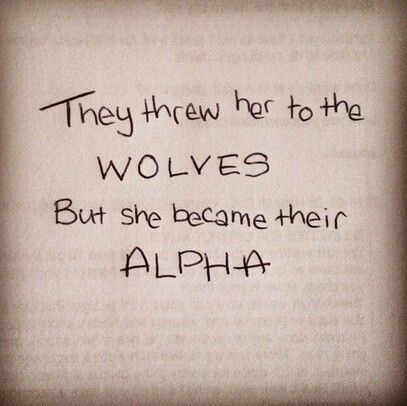 She became the alpha