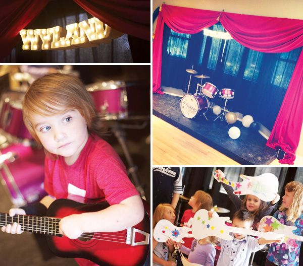 Love the stage, the cakepops, and well, love it all!!   Awesome Rockstar Party!