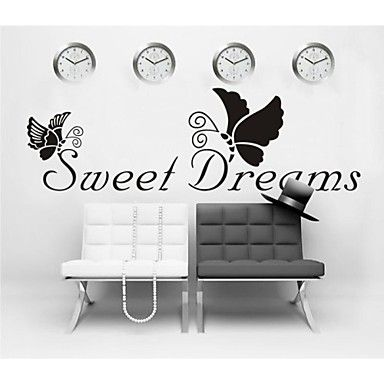 ZOOYOO® removable colorful cute sweet dreams 3D wall sticker home decor wall stickers for kids/lbed room - EUR € 8.17
