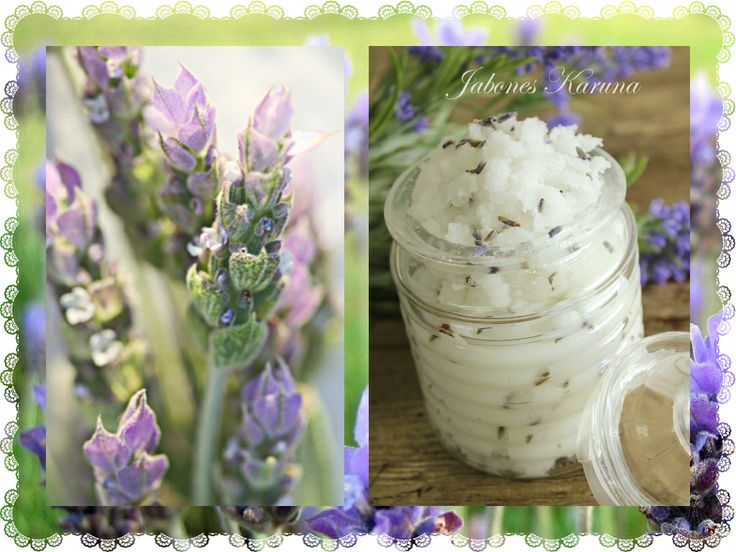 Body Scrub with baking lavender for sensitive and dry skin. Exfoliante corporal de bicarbonato con Lavanda, para pieles sensibles y secas.