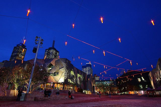 Light decorations at Federation Square | Flickr - Photo Sharing!