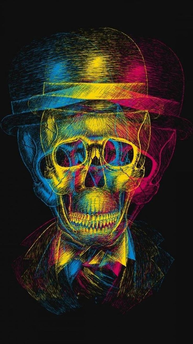 Neon Skull - Tap to see more Dope wallpaper! - @mobile9