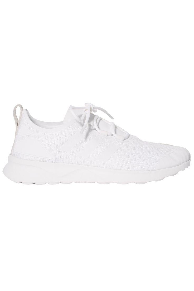 Adidas Zx Flux Weave White Black Solid Grey Unisex Sports