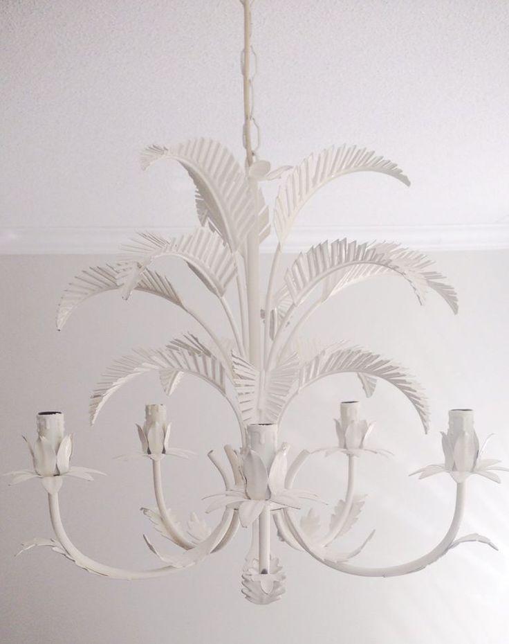 Hollywood Regency Palm Frond Chandelier