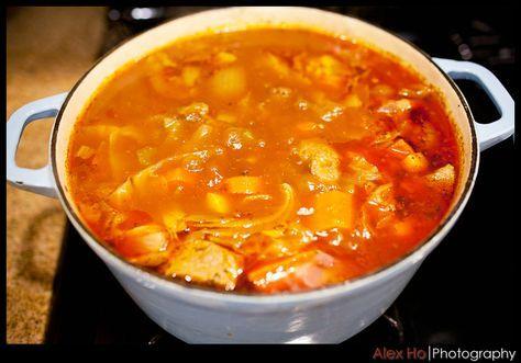 russian tomato ox tail borscht soup