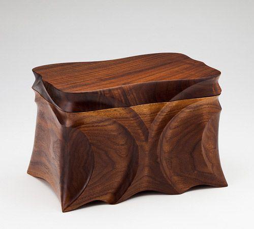 Black Walnut Urn. Via USUrns Online: 100 of the World's Most Beautiful Wood Cremation Urns