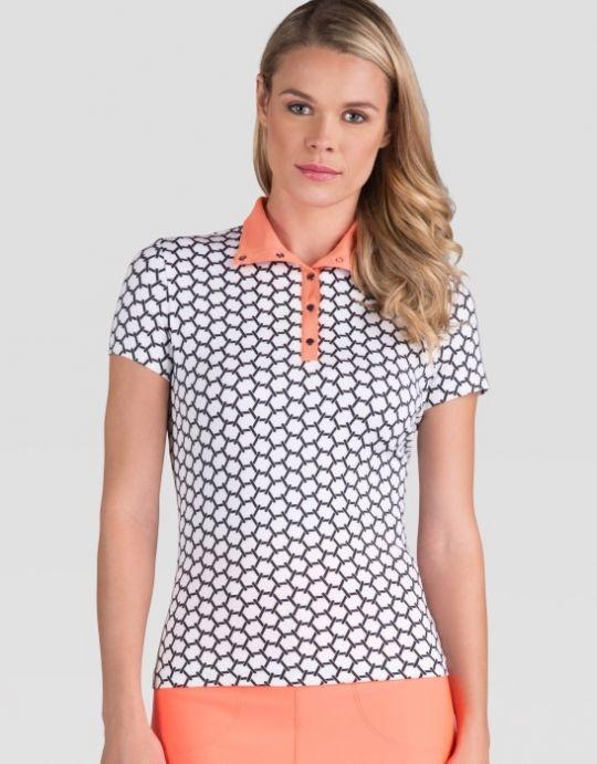 Interlink Tail Ladies COPACABANA Ophilia Short Sleeve Golf Top. More stylish ladies golf apparel at #lorisgolfshoppe