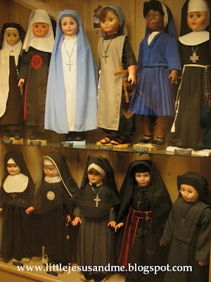 Nun dolls...what a novel idea!  they also have Priest dolls