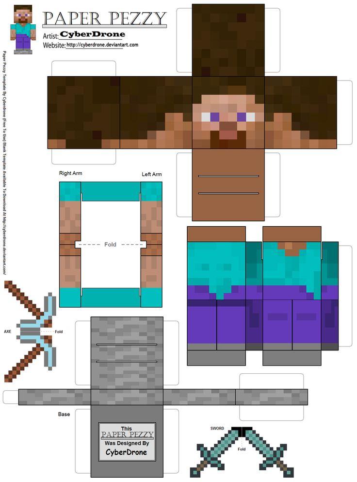 Paper Pezzy- Steve 'Minecraft' by CyberDrone.deviantart.com on @deviantART