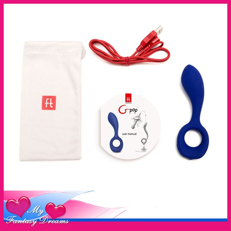 G-POP SILICONE MINI POWERFUL VIBRATOR WITH RING BASE USB #FTLONDON
