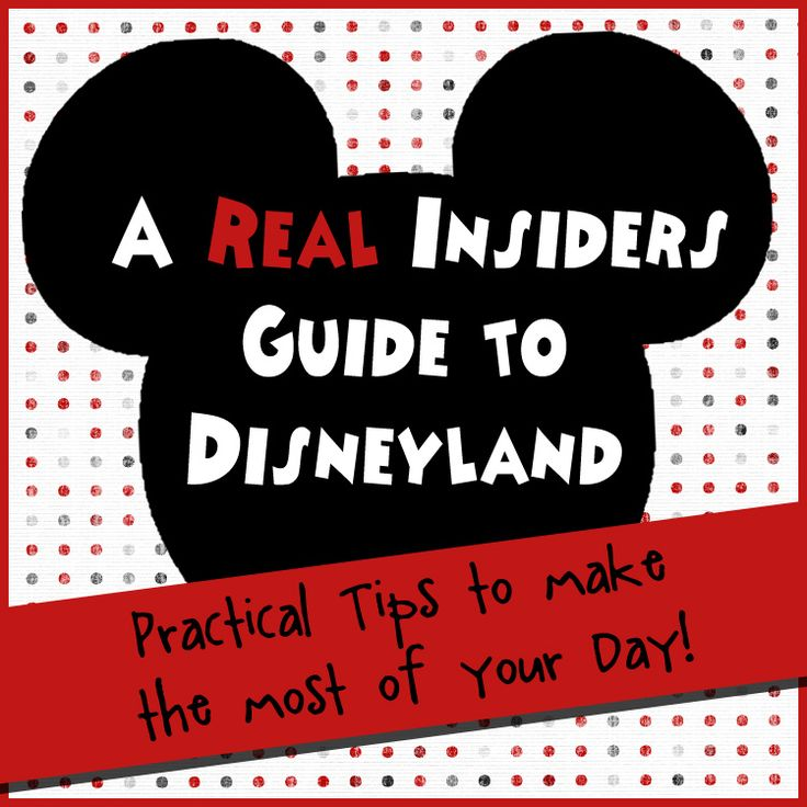 REAL tips and PRACTICAL information that will help you make the most of your day at Disneyland. A must read if you are planning a trip! (I JUST got back from Disneyland and this info would have been VERY useful....we pretty much went about it like rookies but this will be great for the next go around!)