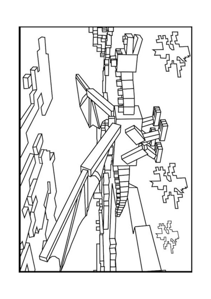 A Minecraft Enderman coloring page