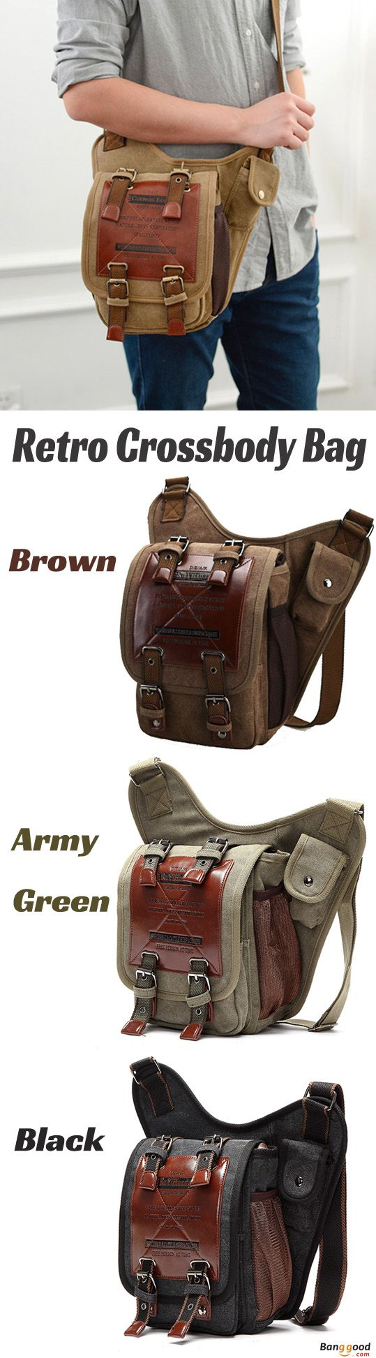 US$31.89 + Free shipping.Men's Bag, Canvas Bag, Retro Bag, Travel Bag, Crossbody Bag, Chest Bag. Color: Brown, Black, Army Green.Material: Canvas.Lots of room Helps You Hold Everything.