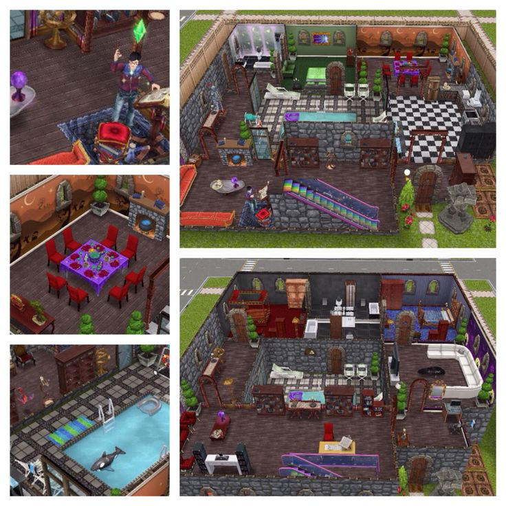 Wizard magic sims freeplay original house design sims for Casa de diseno sims freeplay
