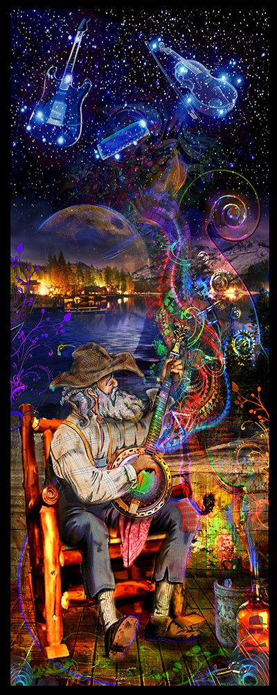 Bluegrass Banjo Tapisserie - Jumbie Art