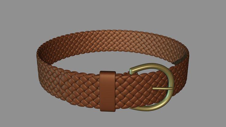Geometry Practice(Braided Leather Belt), Henning Lande on ArtStation at https://www.artstation.com/artwork/geometry-practice-braided-leather-belt