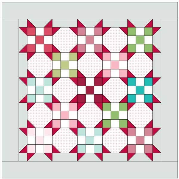 RED HOTS: FREE baby quilt pattern Based on a quilt designed by SANDRA CLEMONS Nine-Patch and Snowball Blocks combine
