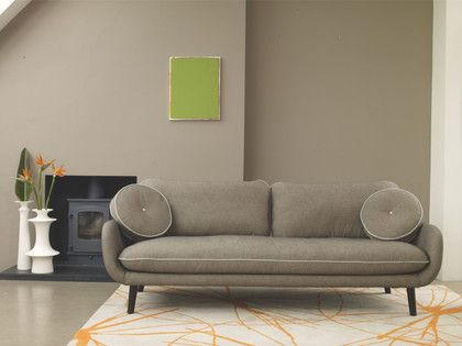 STARFLORAL NEUTRAL Wool Large grey and orange wool rug 170 x 240cm - HabitatUK